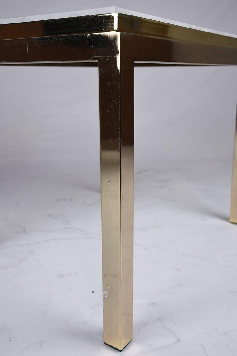 Modern Brass And Marble Coffee Table For Sale At 1stdibs