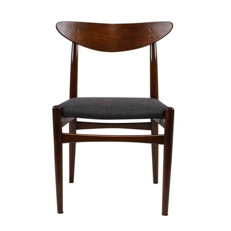Carved Set of Six Danish Dining Chairs For Sale