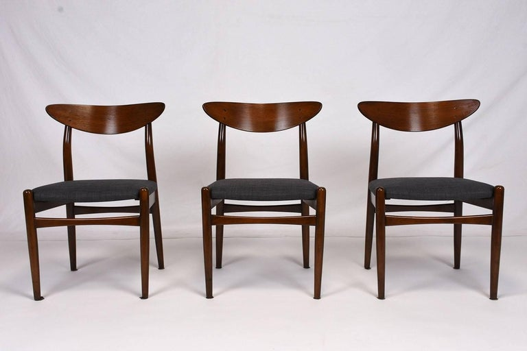 Mid-Century Modern Set of Six Danish Dining Chairs For Sale