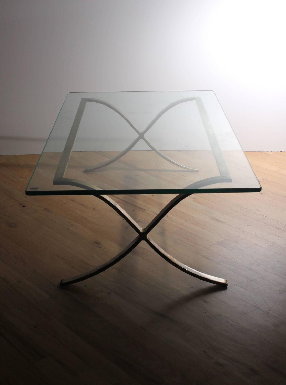 Rectangular Glass Coffee Table: Vintage Rectangular Glass Coffee Table / Manner Of Mies