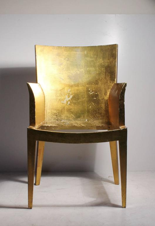 Mid-Century Modern Vintage Karl Springer JMF Armchair (Gilt) by Enrique Garcel for Jimeco For Sale