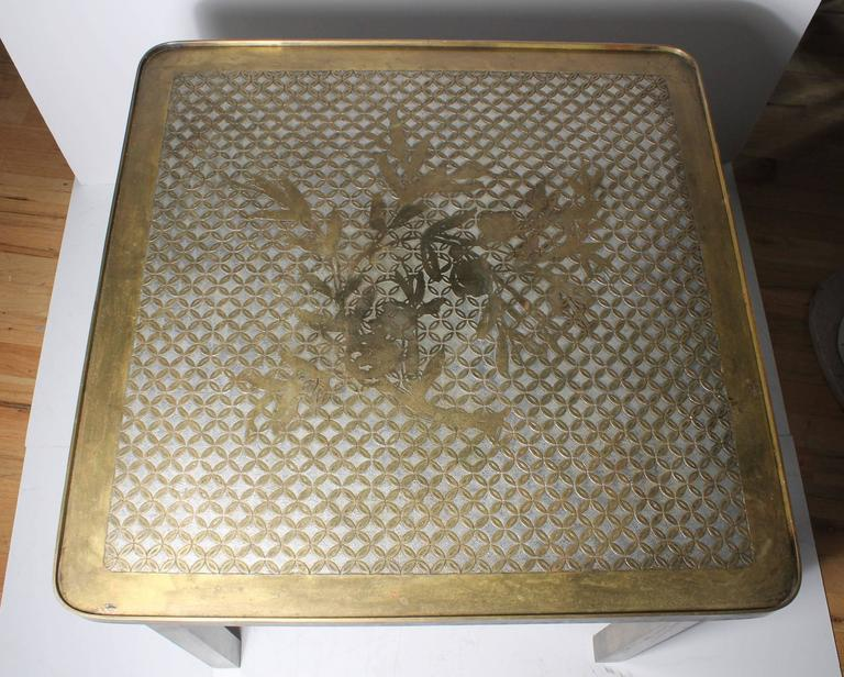 Architectural Brass Philip and Kelvin LaVerne Side Table For Sale 2