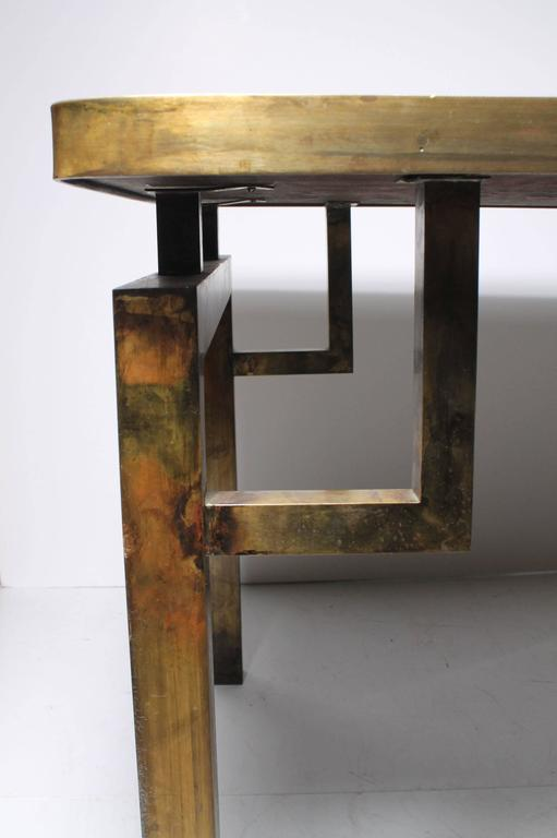 Architectural Brass Philip and Kelvin LaVerne Side Table For Sale 3
