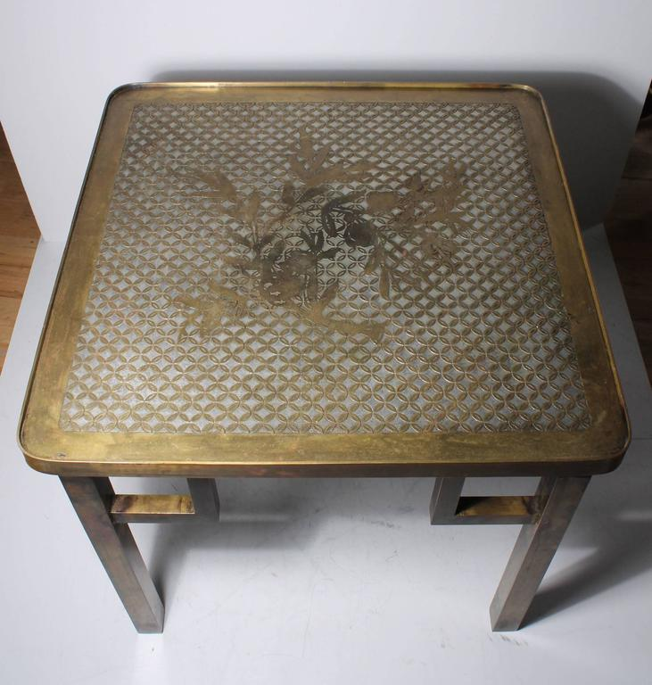 Large Philip and Kelvin LaVerne side table.