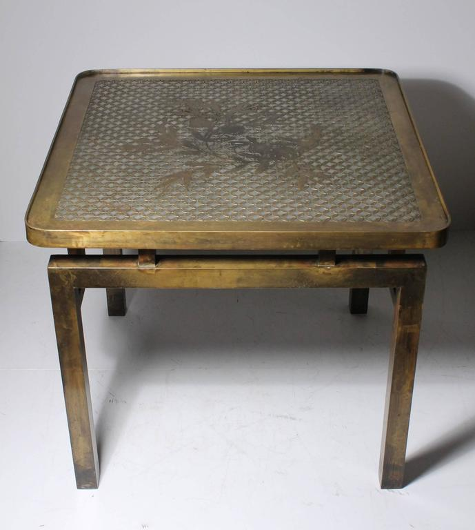 Architectural Brass Philip and Kelvin LaVerne Side Table For Sale 1