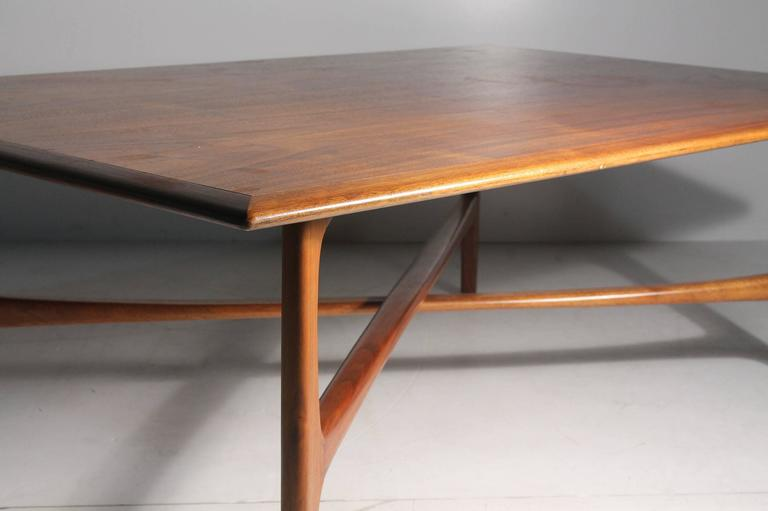 Wood Danish Modern DUX Folke Ohlsson Coffee Table with X-Stretcher For Sale