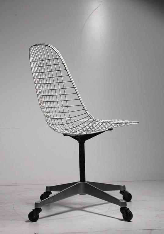 Early Charles Eames Pkc Wire Rolling Task Chair For Herman
