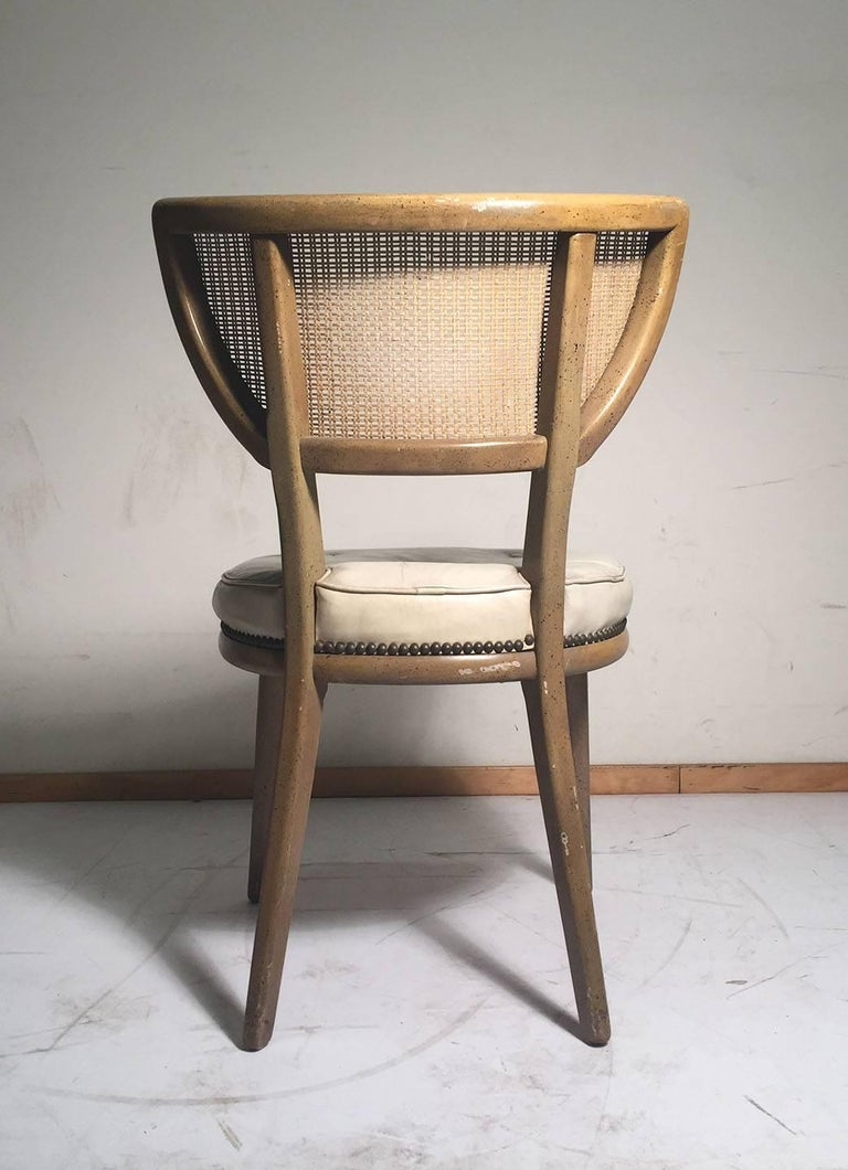 Set of Four Vintage William Haines Style Chairs For Sale 3