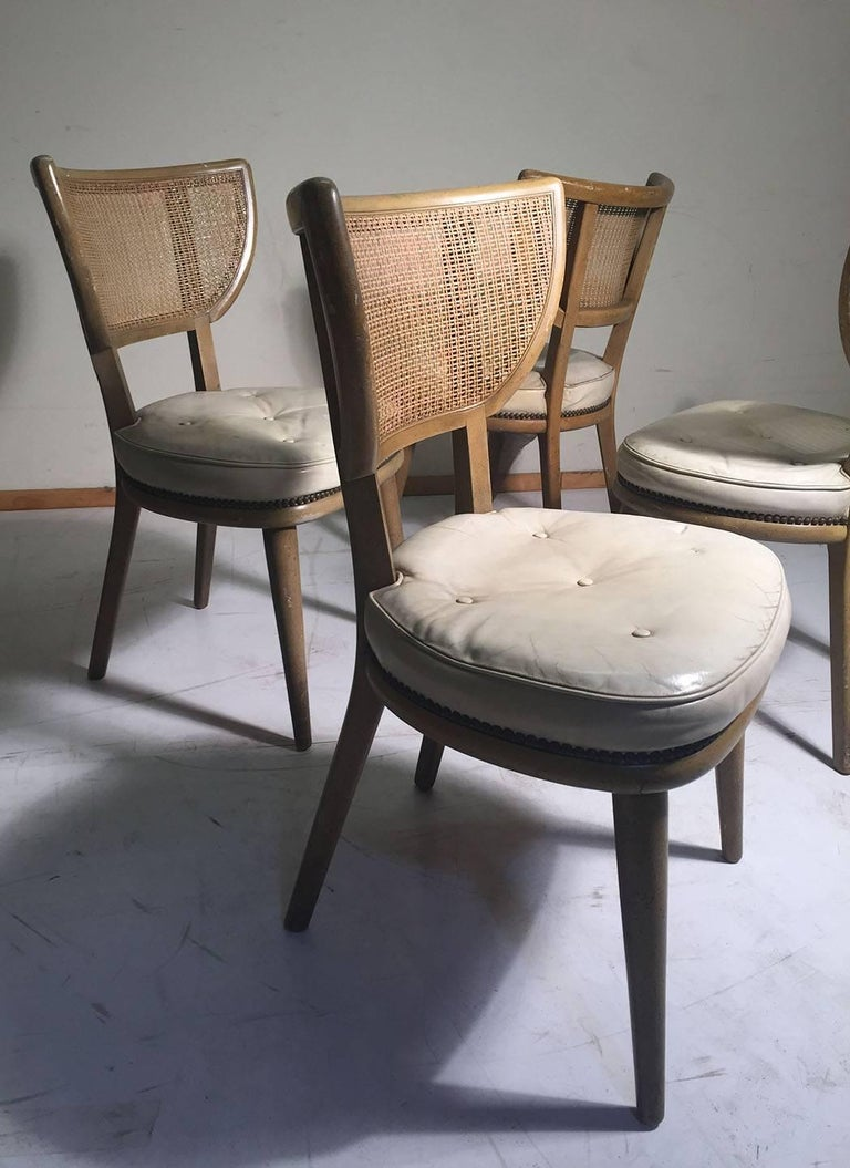 Set of Four Vintage William Haines Style Chairs In Good Condition For Sale In Chicago, IL