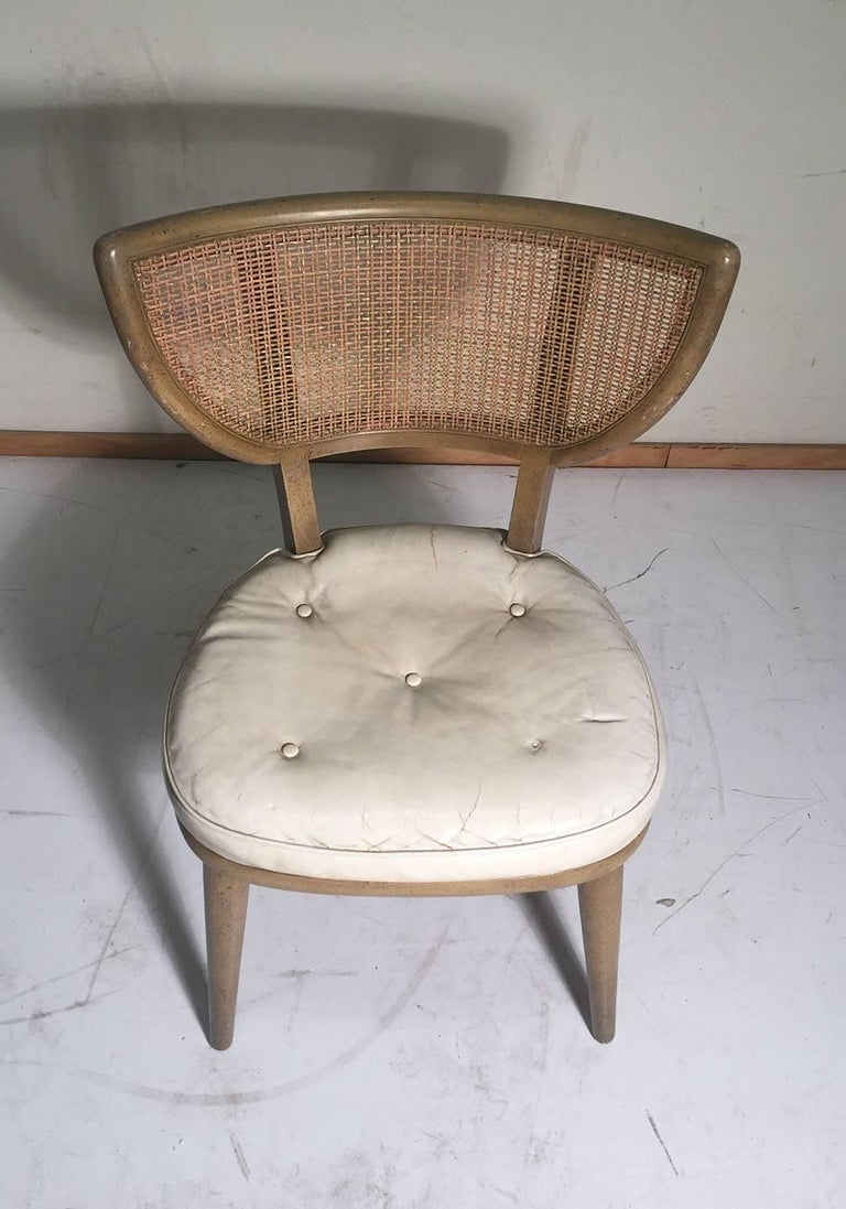 Set of Four Vintage William Haines Style Chairs For Sale 5