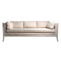 Vintage Faux Bamboo Sofa Attributed to Robsjohn Gibbings