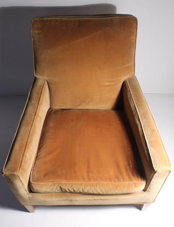 Upholstery Vintage Robsjohn-Gibbings Lounge Chair For Sale