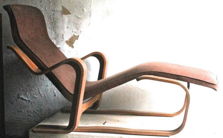 Marcel Breuer Isokon Upholstered Long Chair 1935-36 2