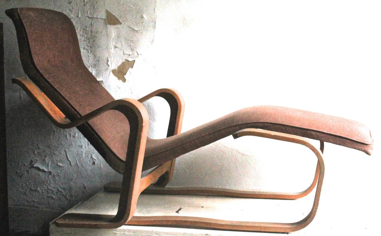 Marcel Breuer Isokon Upholstered Long Chair 1935-36 For Sale at 1stdibs