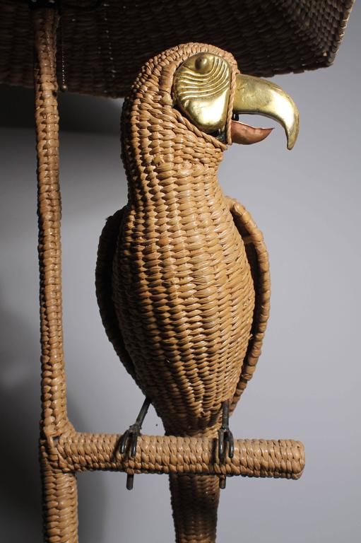 Mario Lopez Torres Parrot and Greek Key base Floor Lamp 6