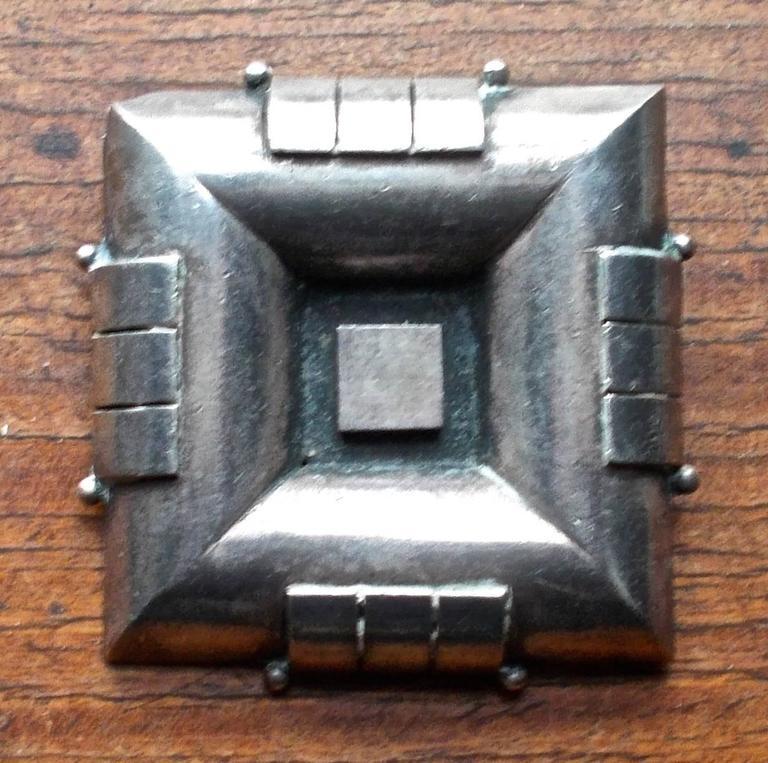 jean despres quot bijoux moteurs quot style silver deco brooch for sale at 1stdibs