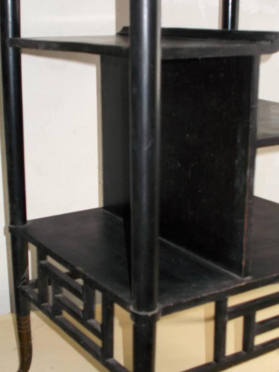 Lejambre Aesthetic Movement Japanese Ebonized Eterget, Philadelphia, circa 1880 For Sale 1