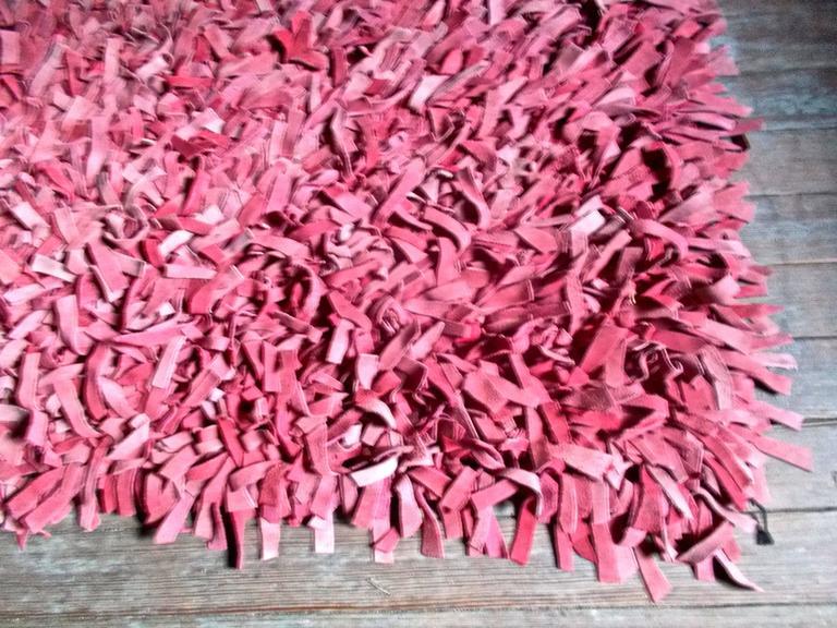 Jack Lenor Larsen Rose Colored Suede Carpet For Sale At