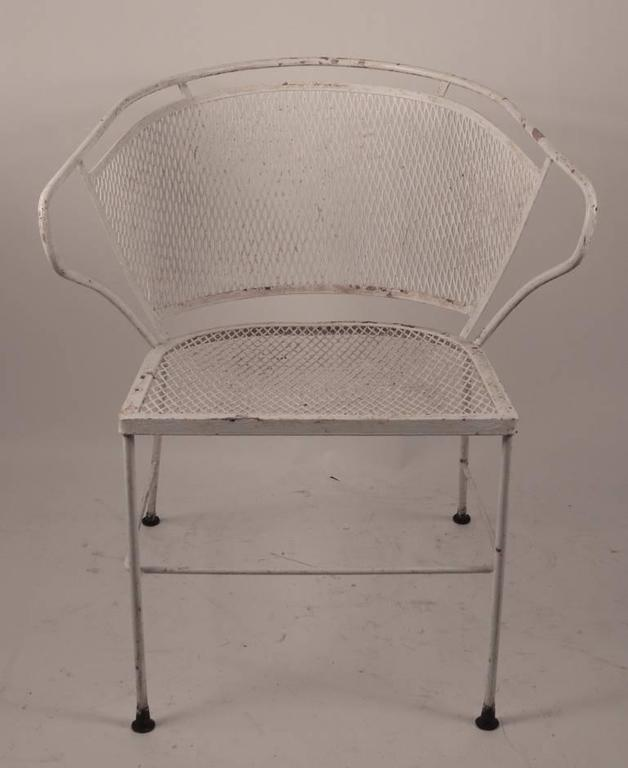 Prime Pair Of Metal Mesh Garden Chairs Attributed To Woodard Short Links Chair Design For Home Short Linksinfo