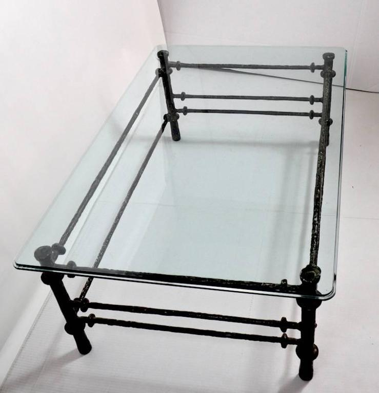 Giacometti Style Glass Top Coffee Table At 1stdibs