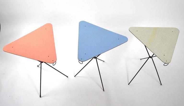 three piece set mid century folding tables at 1stdibs