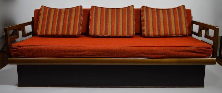 Mid-Century Modern Mid-Century Sofa on Plinth Base For Sale