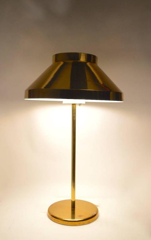Mid-Century Modern Rare Brass Paul Mayen for Habitat Table Lamp For Sale