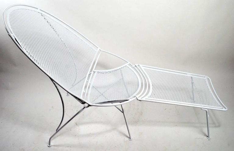 Tempestini for Salterini High Back Lounge with Footrest In Excellent Condition For Sale In New York, NY