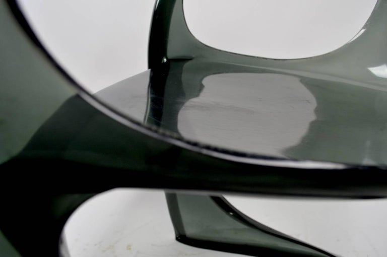 Mid-Century Modern Smoked Lucite Casalino Chair by Alexander Begge