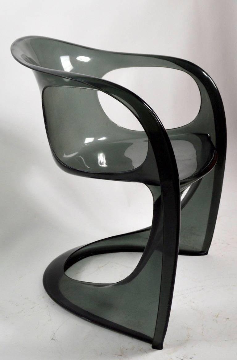 Austrian Smoked Lucite Casalino Chair by Alexander Begge
