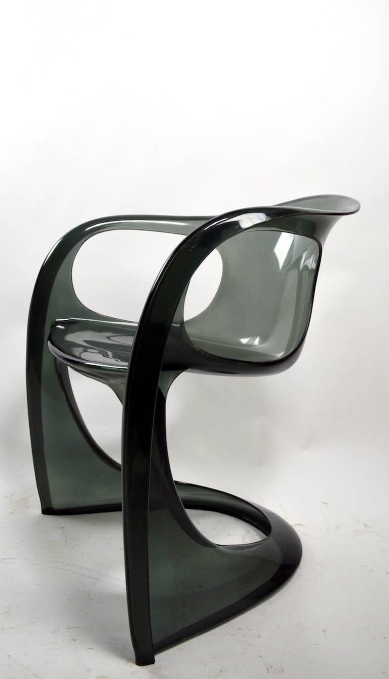 20th Century Smoked Lucite Casalino Chair by Alexander Begge