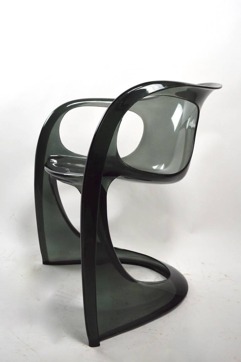 Smoked Lucite Casalino Chair by Alexander Begge 1