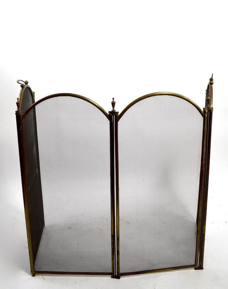 Folding Spark Gard Fireplace Screen For Sale At 1stdibs