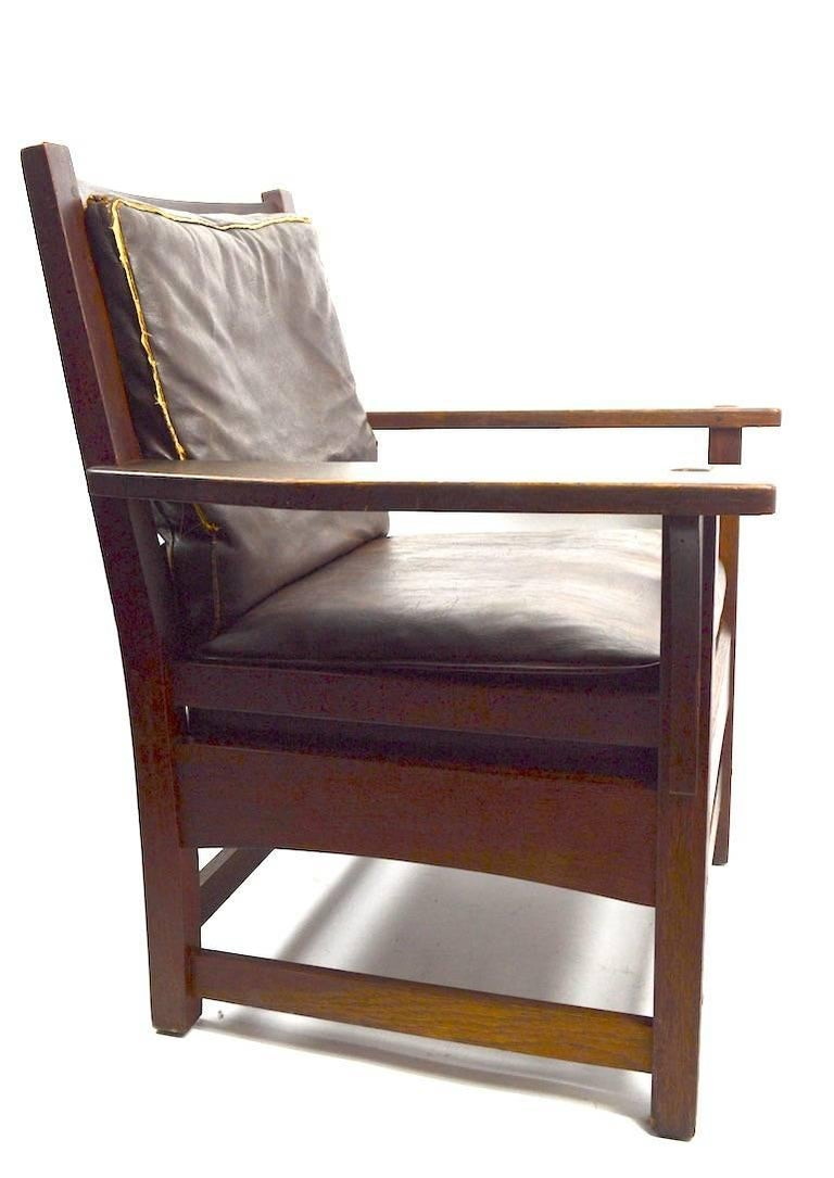 American Mission Armchair by L JG Stickley For Sale