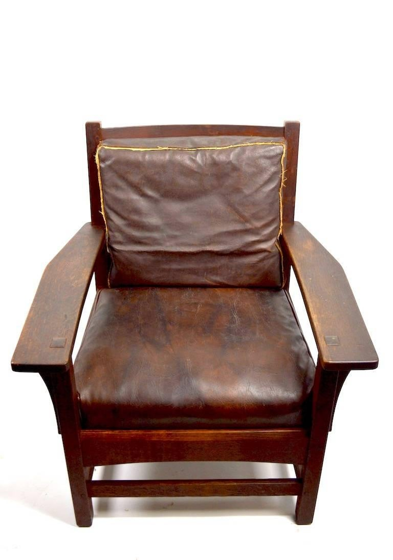 20th Century Mission Armchair by L JG Stickley For Sale