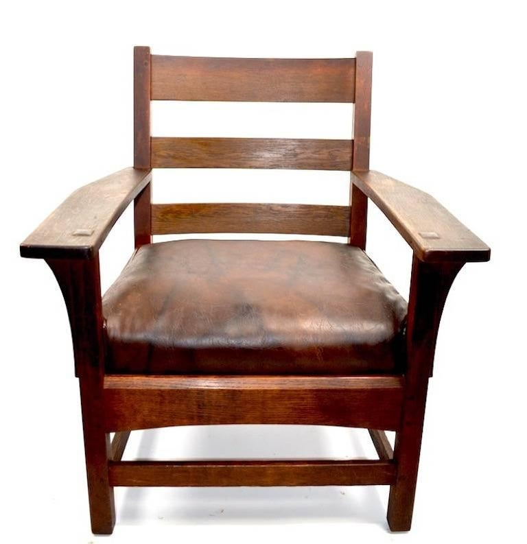 Mission Armchair by L JG Stickley For Sale 1