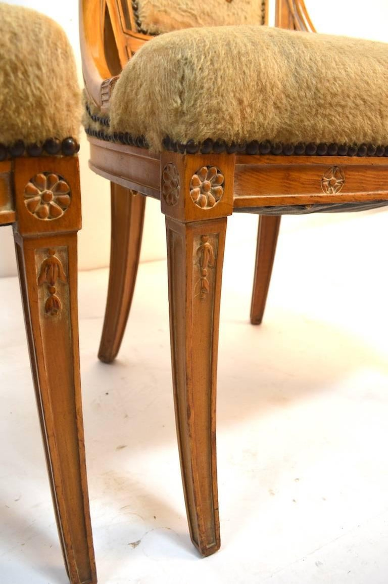 Set of Four Grosfeld House Chairs in the Hollywood Regency Style In Good Condition For Sale In New York, NY