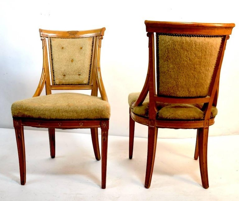 Set of Four Grosfeld House Chairs in the Hollywood Regency Style For Sale 3