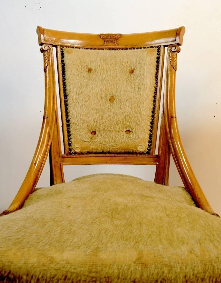 American Set of Four Grosfeld House Chairs in the Hollywood Regency Style For Sale