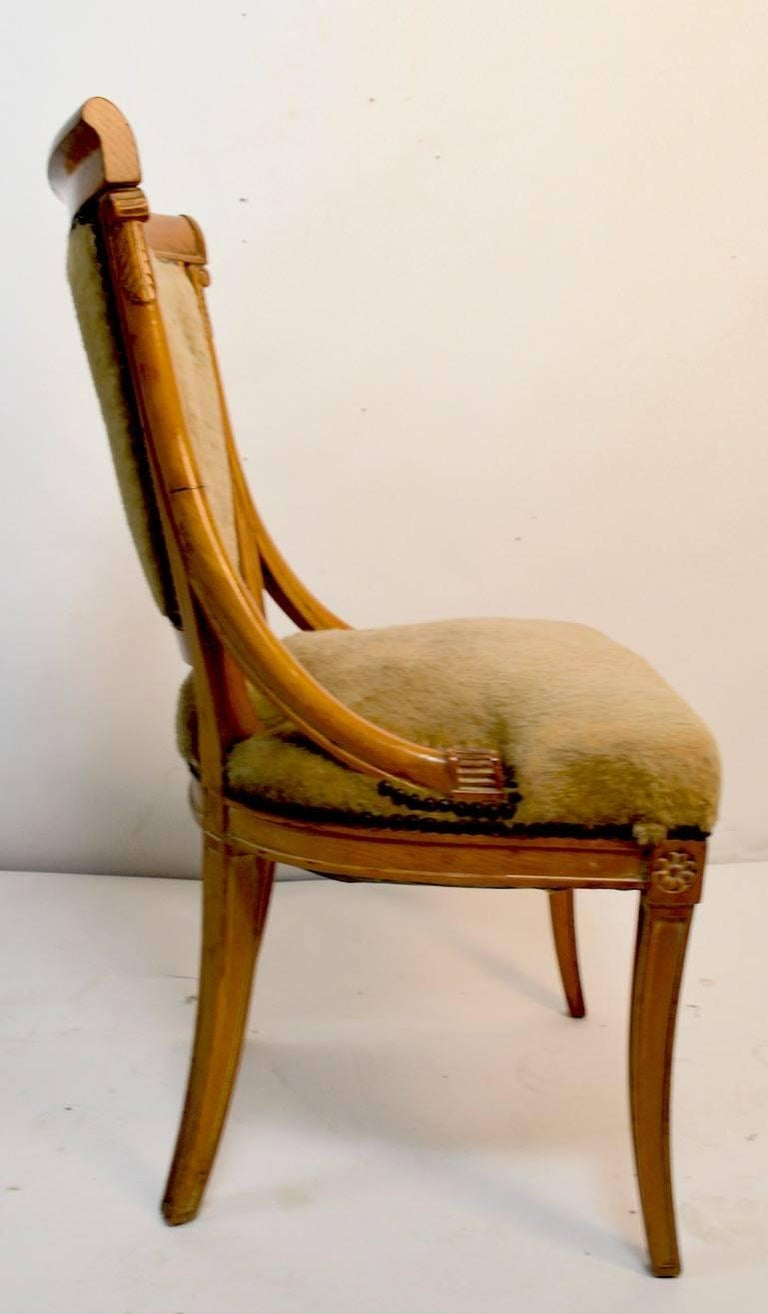 Set of Four Grosfeld House Chairs in the Hollywood Regency Style For Sale 1