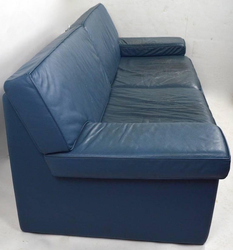 Walter Knoll Leather Sofa for Sirino Brayton International For Sale 1