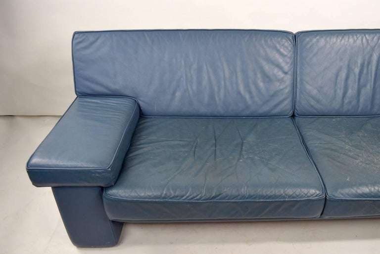Great broken in leather sofa by Walter Knoll