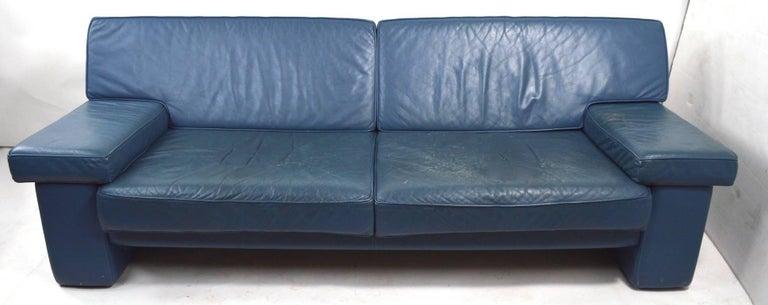 20th Century Walter Knoll Leather Sofa for Sirino Brayton International For Sale