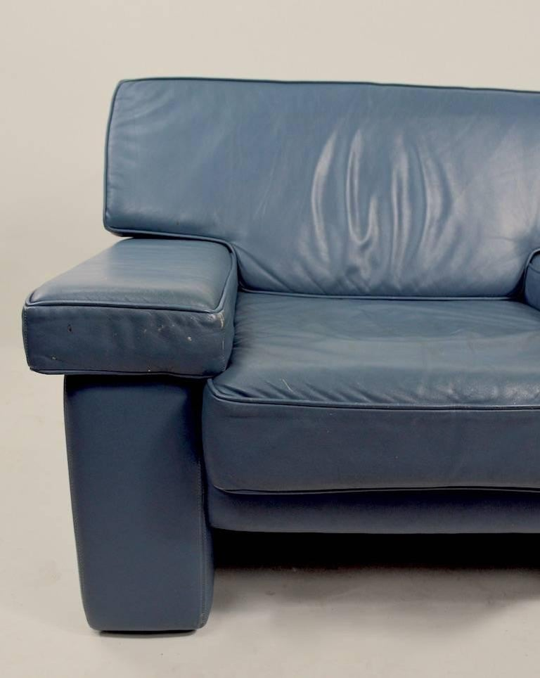 Mid-Century Modern Pair of Leather Club Chairs by Walter Knoll for Brayton International For Sale
