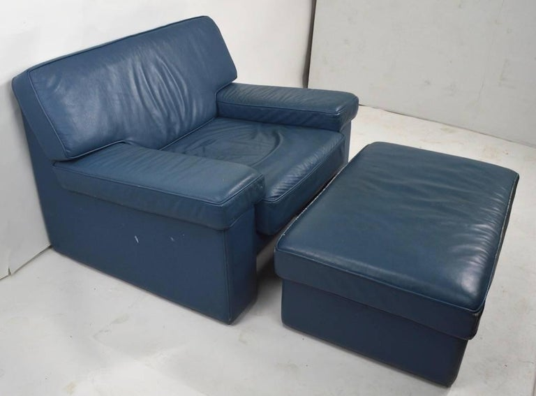 Pair of Leather Club Chairs by Walter Knoll for Brayton International For Sale 3