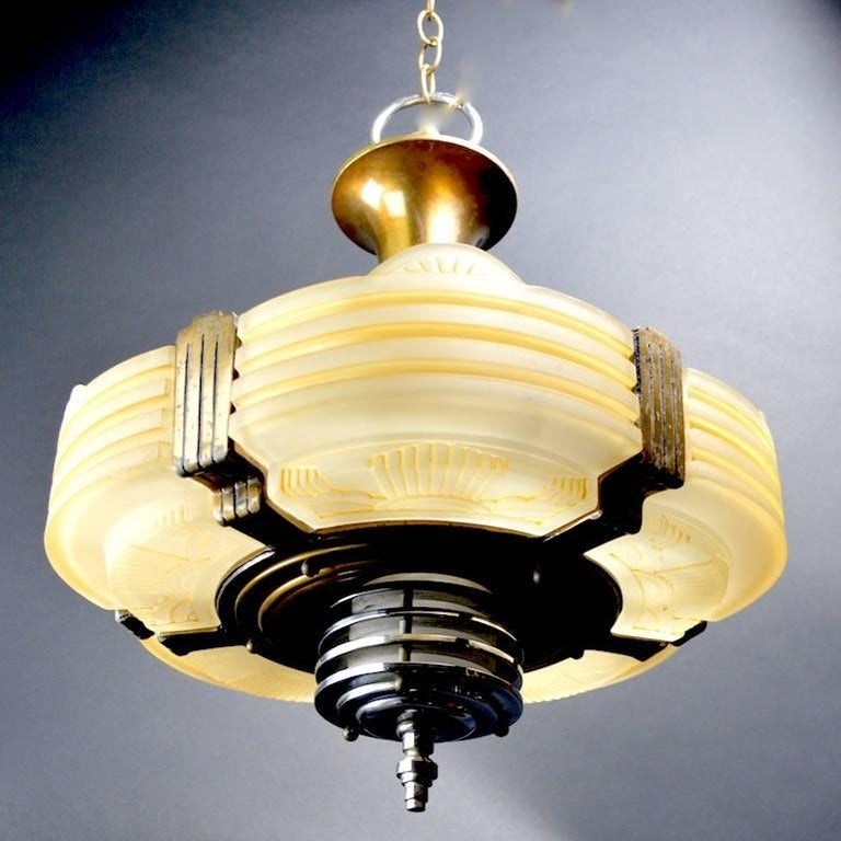 Classic american art deco chandelier for sale at 1stdibs for American classic lighting