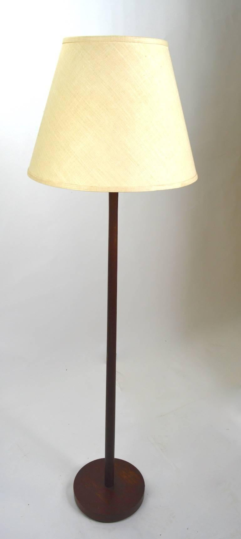 Wood Pole Lamps With Original Shades, By The Laurel Lamp Company. Elegant  Sophisticated Form