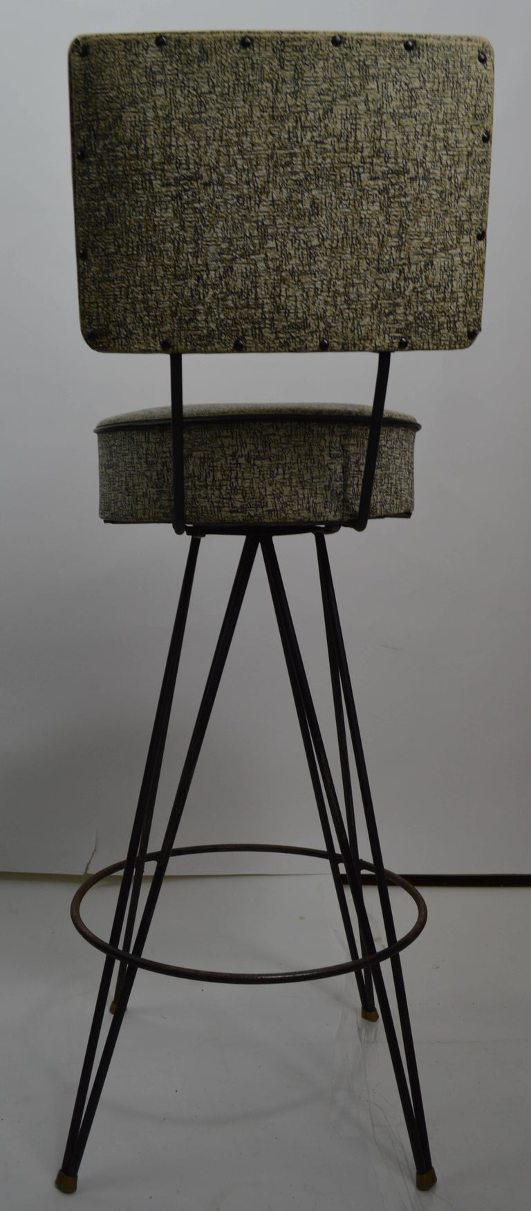Set Of Four Stools With Removable Backs For Sale At 1stdibs