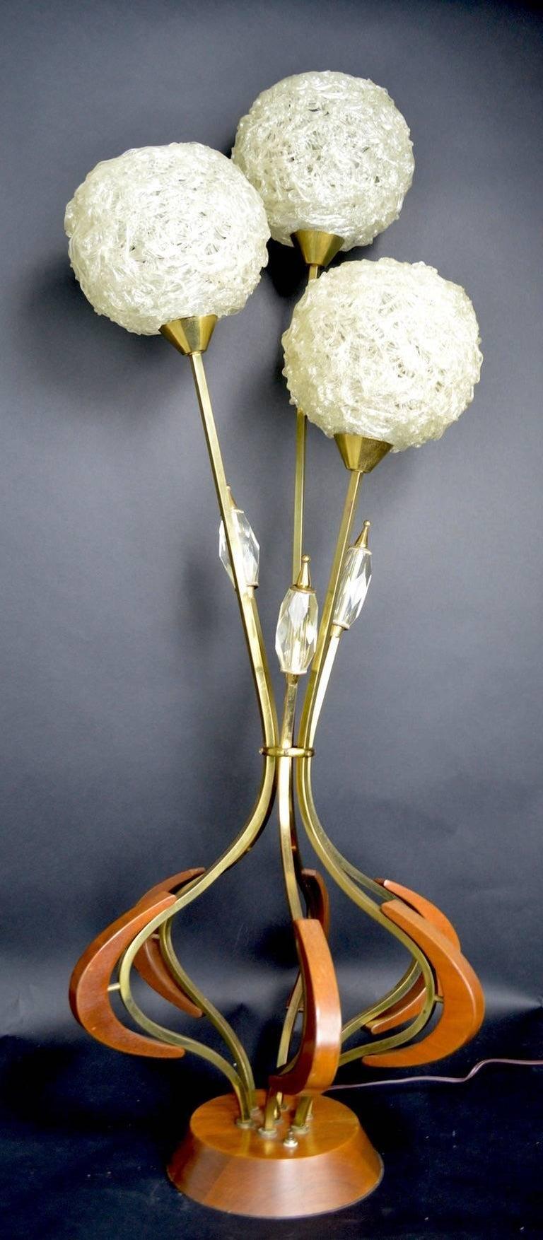 Mid Century Spaghetti Lucite Lamp At 1stdibs
