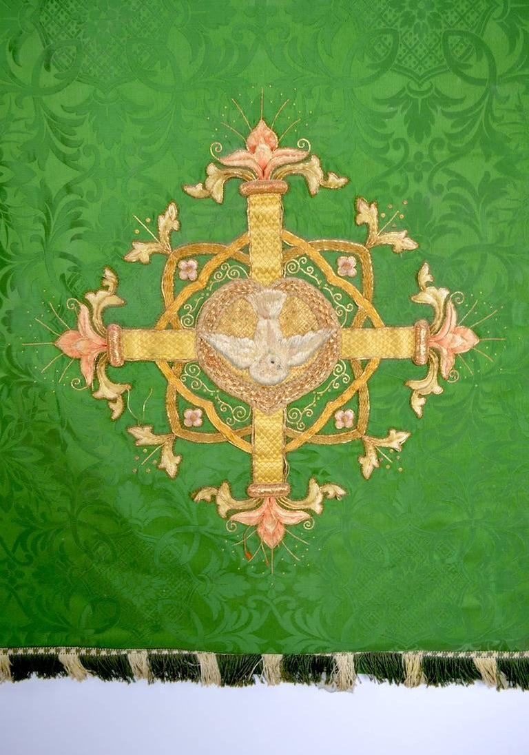 Renaissance Decorative Tapestry on Brass Rod For Sale